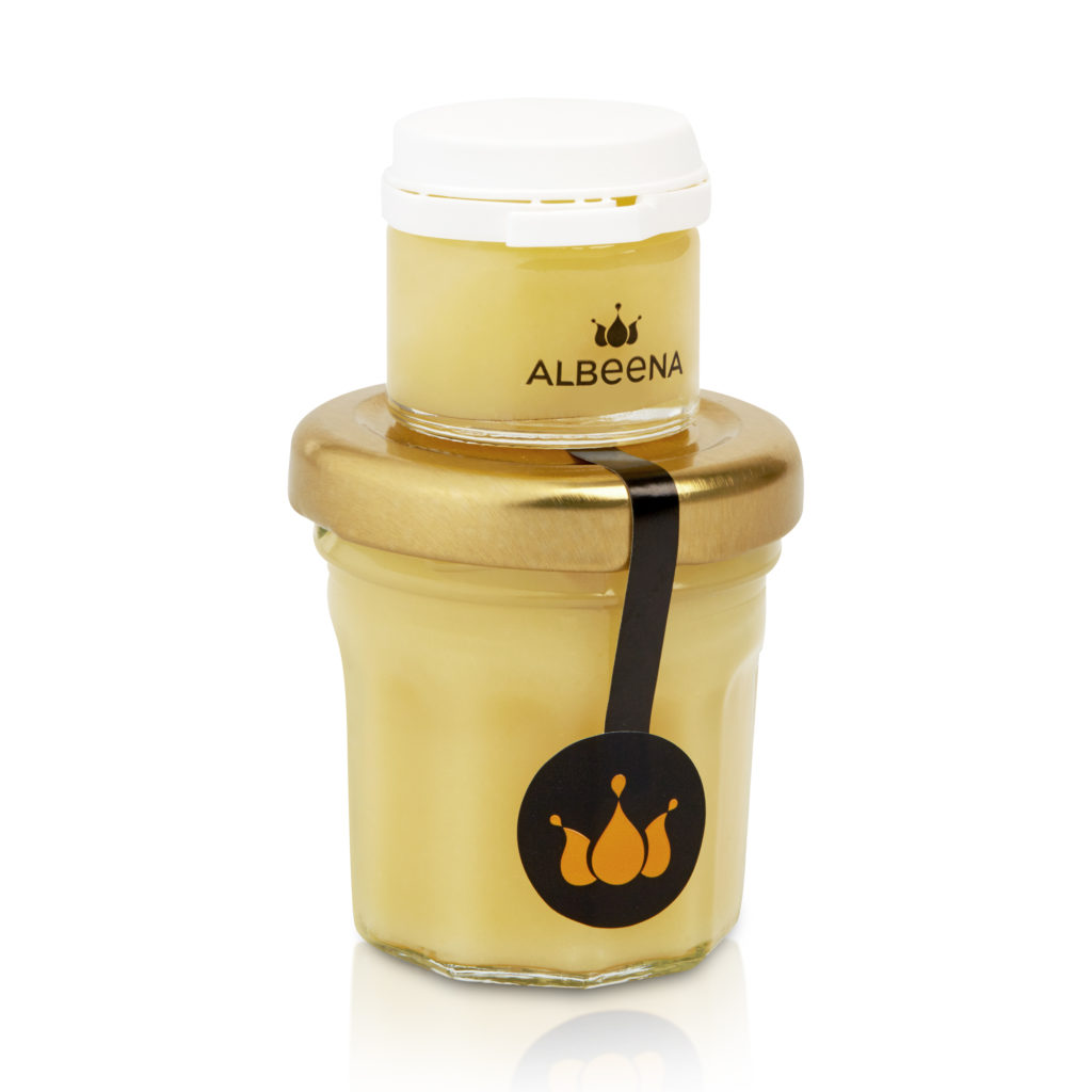 fresh royal jelly jar